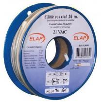 Bobine plastique de   5 m câble coaxial 21VAtC - Blanc
