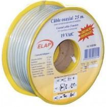 Bobine de câble coaxial 19 VAtC - Blanc - 25 m