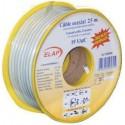 Bobine 50 m câble coaxial 19 VAtC - Blanc