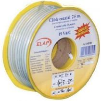 Bobine de câble coaxial 17 VAtC - Blanc - TNT - 25 m