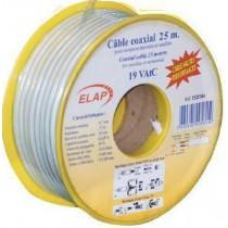 Bobine de câble coaxial 17 VAtC   Blanc - TNT - 25 m - Triple blindage - Qualité PRO
