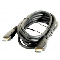 Cordon HDMI mâle / HDMI mâle - long. : 2,5 m