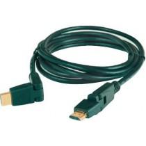 Cordon HDMI mâle / HDMI mâle rotatif 360 °- long : 2 m