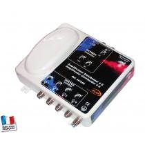 Amplificateur distributeur  2 entrées (FM / VHF + UHF ) 4 sorties