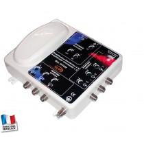 Amplificateur distributeur  2 entrées (FM / VHF + UHF ) 6 sorties