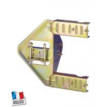 1 cerclage simple à cliquets acier bichromaté - déport : 110 mm