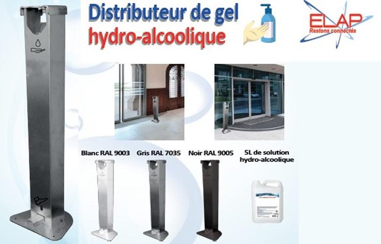 distributeur de gel hydro alcoolique blanc, noir, gris